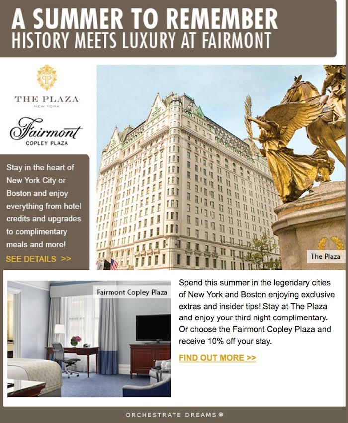 Plaza NYC Fairmont Copley Plaza Offers