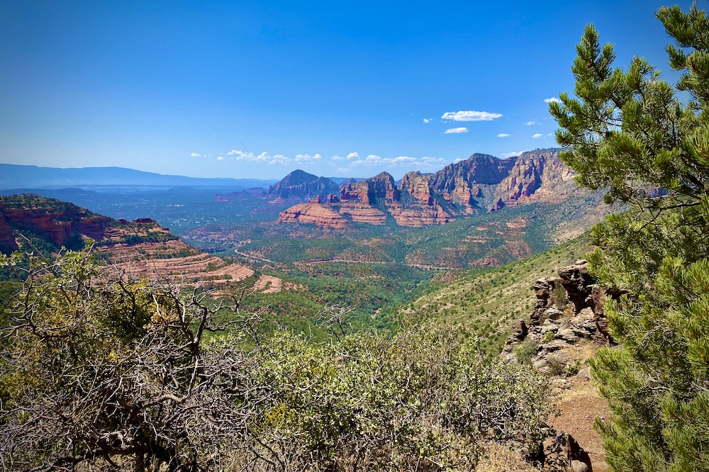 The Schnebly Hill Vista Overlook Sedona Arizona